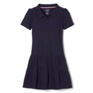 French Toast Ruffled Uniform Dress